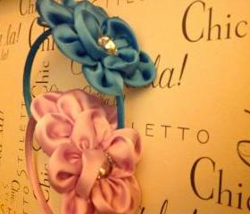 Retro Flower Silk Headband